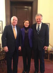 From left to right: Senator McCain, Susan Selke and Richard Selke