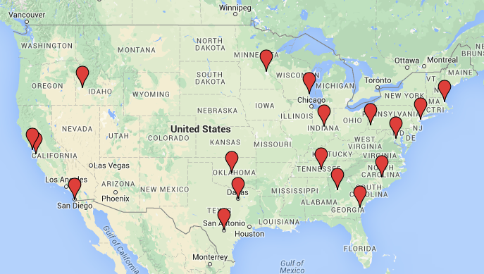 IAVA American Sniper Locations Map