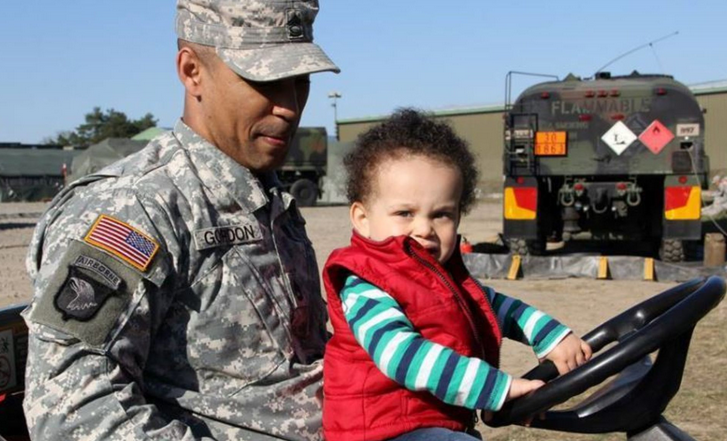 Sgt. 1st Class Sean Gordon of 212th Combat Support Hospital's ground maintenance crew shows his son one of the machines he gets to work with on Family Day at the live surgical exercise at Miesau Ammo Depot.  | Military Times >>