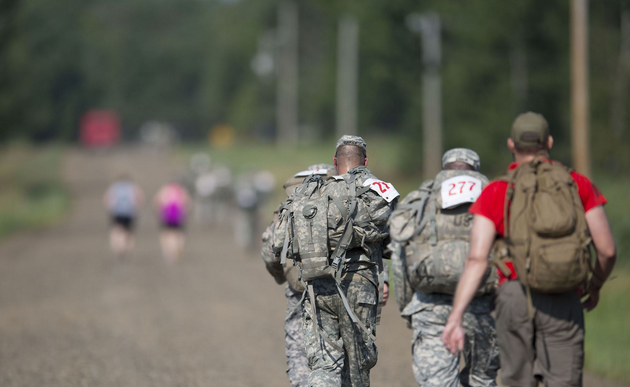 Members of the 1st Combined Arms Battalion, 194th Armor and supporting participants honored their WWII brethren who were forced to endure a 60 mile march infamously known as the Bataan Death March during the 18th Annual Bataan Memorial March.   Military Times >>