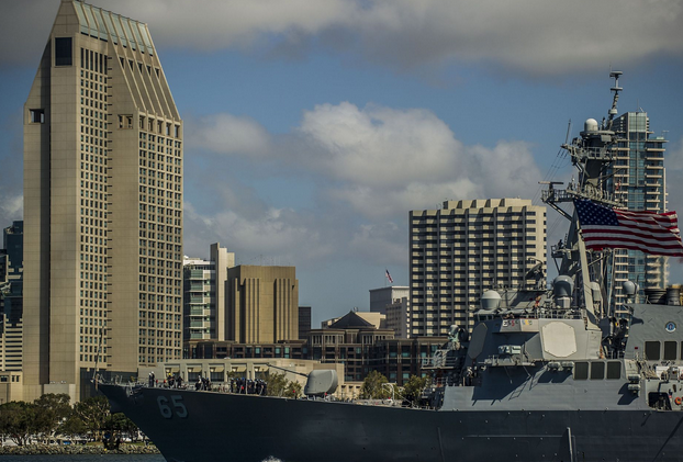The Arleigh Burke-class guided-missile destroyer Benfold departs Naval Base San Diego bound for Yokosuka, Japan to join the forward-deployed naval forces. | Military Times >>
