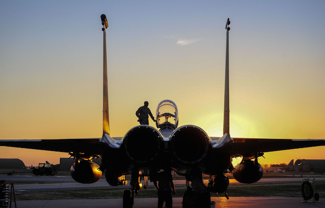 U.S. Air Force F-15E Strike Eagle sits after shortly landing at Incirlik Air Base, Turkey. Six F-15Es from the 48th Fighter Wing deployed in support of Operation Inherent Resolve and counter-ISIL missions in Iraq and Syria. | Military Times >>