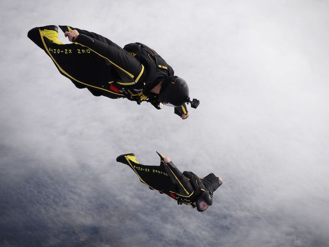 Staff Sgt. John Lopez and Staff Sgt. Travis Downing, both members of the Army's Golden Knights demonstration team, conduct a training jump over Homestead Air Reserve Base. | Military Times >>
