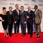 Joy Taylor, Skip Bayless,  Jamie Horowitz, Honoree Patrick Murphy, Paul Rieckhoff, and Shannon Sharpe