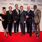Joy Taylor, Skip Bayless,  Jamie Horowitz, Honoree Patrick Murphy, Paul Rieckhoff, and Shannon Sharpe