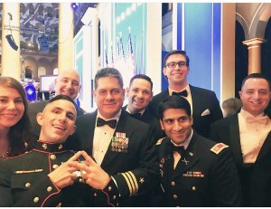 IAVA group enjoying the fun at the Ball!
