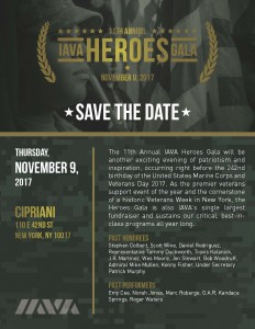 2017 IAVA Heroes Gala - Save the Date!