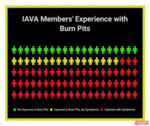 Burn pits graphic - member experience