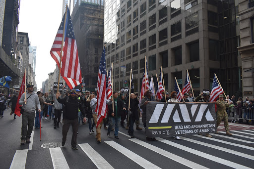 IAVA members and staff march up 5th Avenue