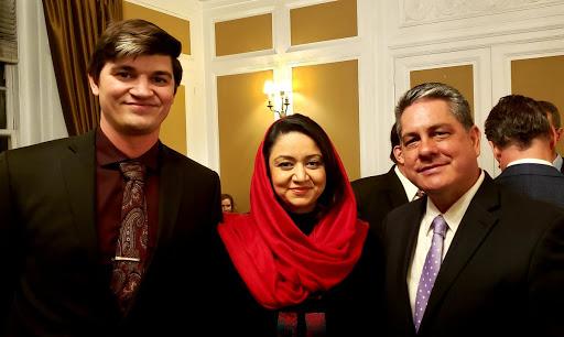 Tom Porter and Travis Horr with Ambassador Roya Rahmani